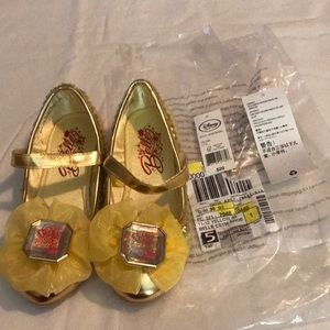 Disney Yellow Belle Bejeweled Shoes NWT
